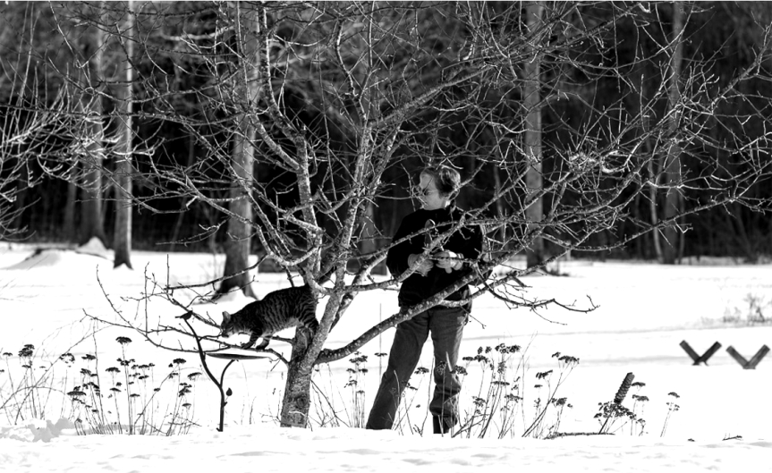 Pruning in the Snow [CCBY Roger H Goun]